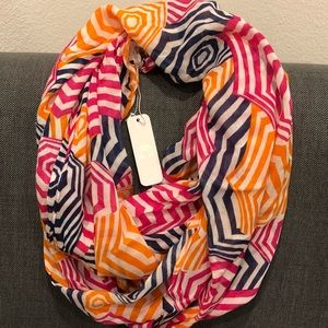 BYWT - Pink, Orange, Blue and White Stripes Scarf
